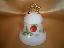 Bernardaud Limoges France Wild Strawberry Porcelain Bell