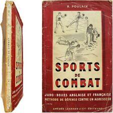 Sports de combat Judo boxe anglaise française 1946 Poulain arts martiaux défense