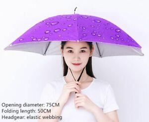 Head Mounted Umbrella Folding Windproof Overhead Hat Outdoor Fishing Supplies