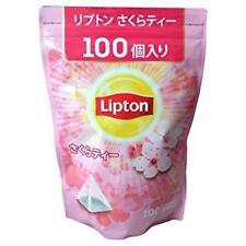 Lipton Cherry Blossom Sakura Tea pyramid type tea bag 100 bags value pack