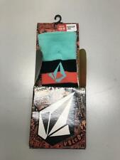 Volcom Women Status Coolmax Snowboard Socks Pink Mint Blue Medium - Large  NEW