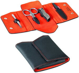 Silvertex & Stainless Steel Manicure Case Set Nail Clipper DOVO Solingen