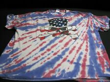 Tye Die Shirt with Patriotic Skull Mens 2XL~ 6886