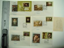 6 pcs USSR Russia Soviet Art Envelope with Stamp 1977 Pictures * 914