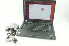 Lenovo ThinkPad T61 Black Laptop SSD Ubuntu Used