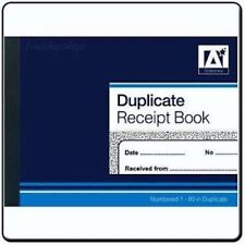 Duplicate Receipt Book Numbered Pages 1-80 With 2 Sheets Carbon Paper Reciept