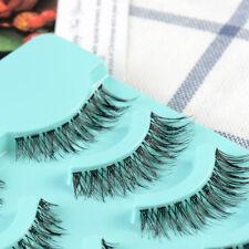 5 pairs women's beauty Handmade NATURAL False Eyelashes Cross Winged Eye lashes