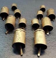 Handmade Decorative Tin Metal Craft Bells Home Decor Vintage Wholesale 12 Pcs