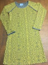 Skies Are Blue dress Size S Grey And Yellow Long Sleeve