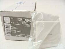 10x Jung CD500 alpinweiss, WIPPE KONTROLL CD590KO5WW mit Lichtleiter