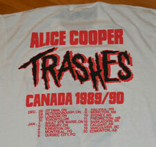 1989-90 Alice Cooper Vintage Trash Canada Tour 24.4ms Rock Concert T-Shirt (XL)