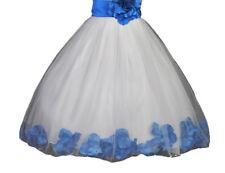 Rose Petals Floral Lace Heart Cutout Flower Girl Dress Communion Dresses 185T