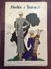 Revue Modes et Travaux n°316 15 Février 1933 Liseuse... Nappe... Col... Poignets