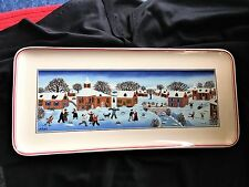 "Beautiful Villeroy & Boch NAIF Christmas Laplau Sandwich Tray 13"" Excellent"