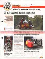 RENWICK 1000 VINCENT Side Car Basset 1966 Joe Bar Team Fiche Moto #006431