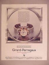 Girard-Perregaux Bicentenary Watch PRINT AD - 1991 ~ wristwatch
