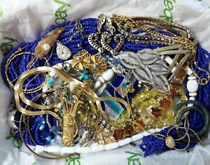 Vintage Estate Jewelry Lot~ Crystal, Rhinestone, Wearable!Closing Shop Clearout!