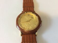 New Disney Pocahontas Watch Wood Case Leather Band.