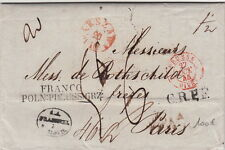 Lettre/Cover Poland Varsovie Big Taxe 1845 Rothschild