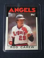 1986 Topps ROD CAREW Baseball Card #400 California Angels MINT Free Shipping HOF