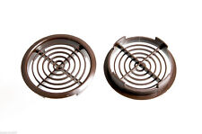 PACKET OF 50 - BROWN SOFFIT DISC PUSH-IN VENTS 70MM 2 3/4 INCH