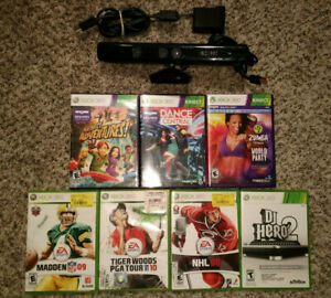 Microsoft Xbox 360 Kinect Games Bundle (model 1414) bundle