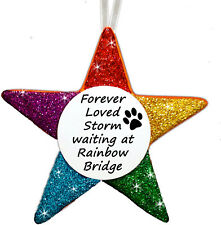 Rainbow Bridge - Personalised Star - Any Message - FREE POEM - by Truly for You