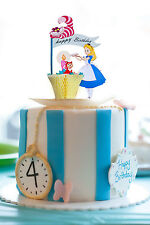 ALICE IN WONDERLAND CAKE TOPPERS / GREETING CARD /CAKE DECORATION GIRL BIRTHDAY