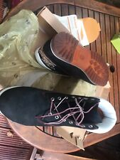 Mens Timberland Black Leather Lace Up Ankle Boots Size UK 12.5 *Ex-Display