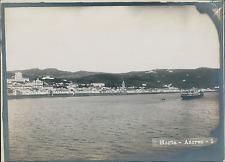Portugal, Horta, Azoren, vue sur la côte  Vintage silver print,  Tirage ar