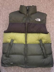 The North Face Gilet Green/Brown Mens Size Small