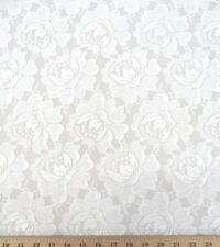 White Roses Floral Lace - Perfect for Summer Dresses or Beach Brides!