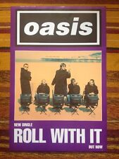Oasis - Roll With It Original Uk Promo Poster