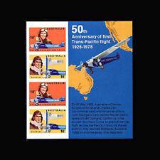 Australia, Sc #675a, MNH, 1978, S/S, Aviation, Trans-Pacific Flight, 231*F