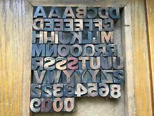 "Letterpress Wood Type   ""Gothic""   1 Inch"