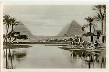 c1920s Egypt Cairo Pyramids of Cheops and Chephren Real Photo