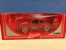 COCA COLA THE LOVE BUG RED VW Beetle Bug 1:18 Diecast