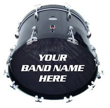 More details for custom / personalised bass drum band name decal