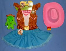 DISNEY SHERIFF CALLIE COSTUME COWGIRL DRESS girls 4-6X-HAT;PLUSH Cactus Toby-LOT
