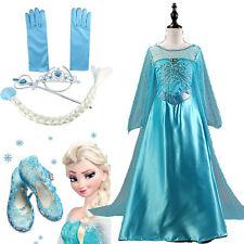 Девушка фантазии тюля платья Эльза выходной костюм Принцесса платье косплей карнавал