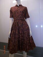 Vintage 60s mini MOD dress LUCY style brown atomic era modern print mimis W 28