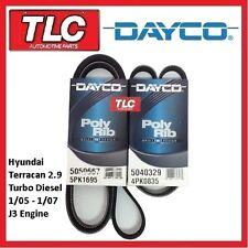 Dayco Hyundai Terracan Fan Belt Kit 2.9 Turbo Diesel 01/05 - 01/07