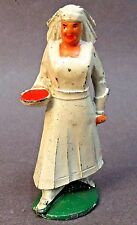 1930's Manoil NURSE w/ RED BOWL Hemline in Skirt dime store lead soldier figure