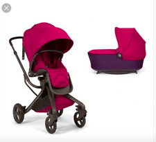Mama's & Papa's Mylo pram stroller combi in black and cerise