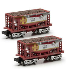 O Gauge Santa Fe Ore Car 2-Pack ATSF Warbonnet Menards Sealed TWO ORE CARS ~NEW