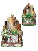 New York City Central Park Polish Glass Christmas Ornament ONE Decoration NYC
