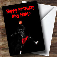 Cool Basketball Personalised Birthday Greetings Card