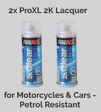 2x ProXL 2K Clear Lacquer Aerosol for Motorcycle & Cars - Petrol Resistant 200ML