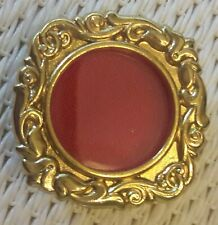 New Goldplated Relic Theca, Reliquary Theca with Crystal Window Roman Import