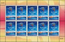 1999 AUSTRALIA Olympic Games Emblem SHEETLET (10) MNH